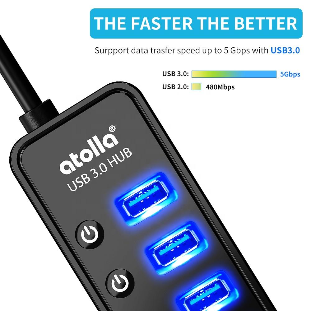 Oem Plug In Atolla 207G Grande hub Usb Hub usb 3.0 de Melhor Qualidade Com Melhor Preço