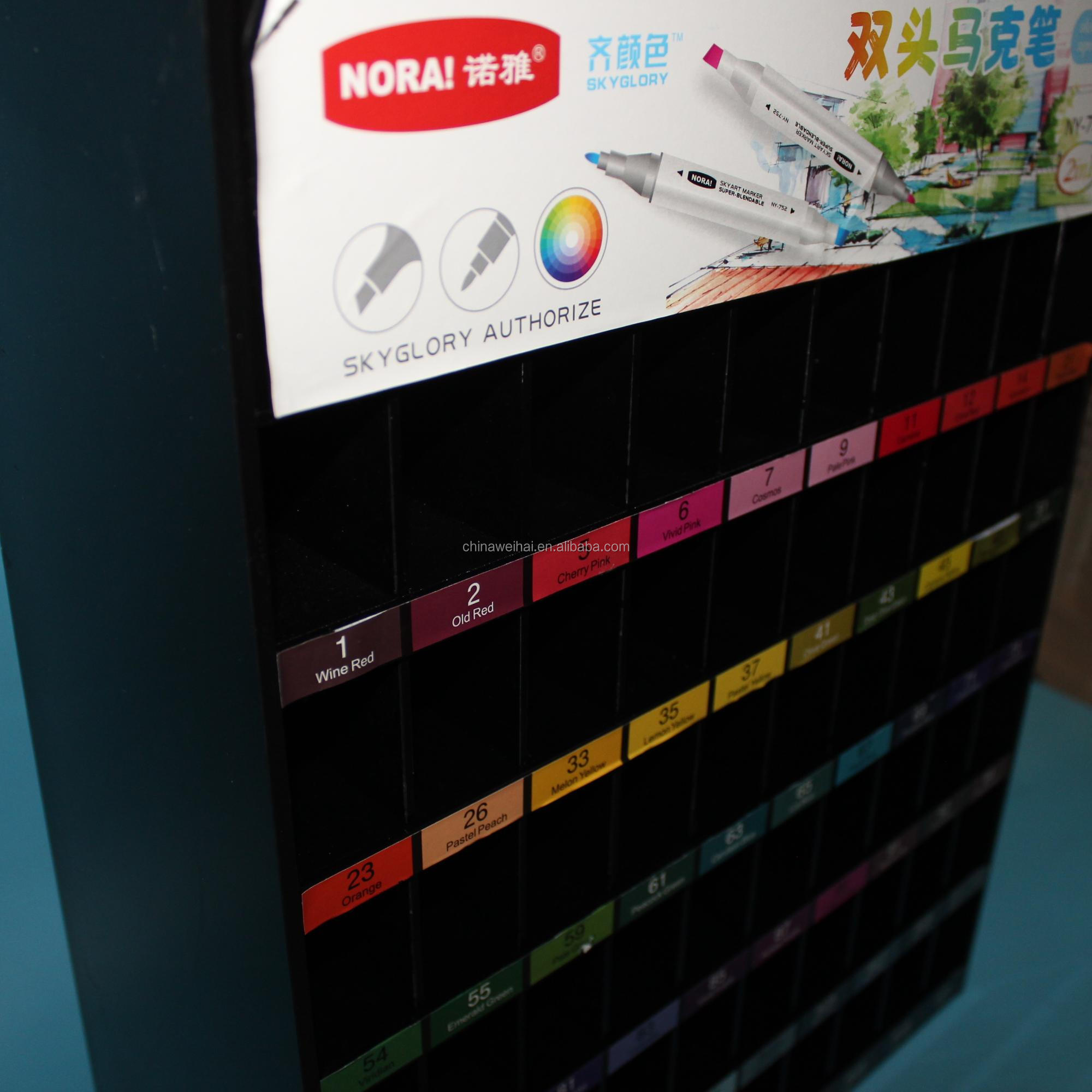 Weihai New Design Floor Stand Acrylic Marker Pen Display