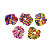 Good stretchy hair elastic bands beautiful velvet printed hair scrunchies elastic exercise band for kids
