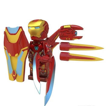 Super hero legoes The Endgame Ironman MK50 mini action figures mini Building Blocks assembly Block