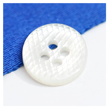 Shenzhen buttons factory wholesale custom sewing black 2 holes 4 holes natural MOP shell button