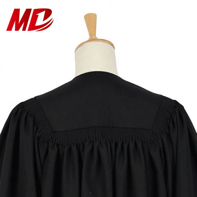 Black Classical Style Clergy Robe For Church