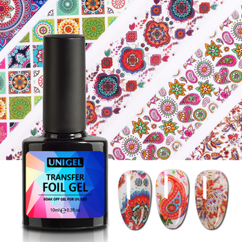 Unigel 10ml 15ml 1kg OEM/ODM Private label Free sample High Sticky Transfer Foil Gel Glue Nail Gel UV LED