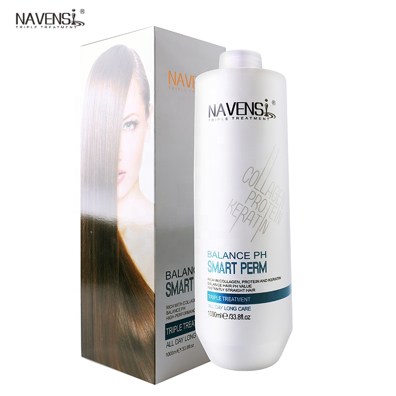 3 in 1 one step up cold wave hair perm gentle bio hair straightening treatment cream permanent private label