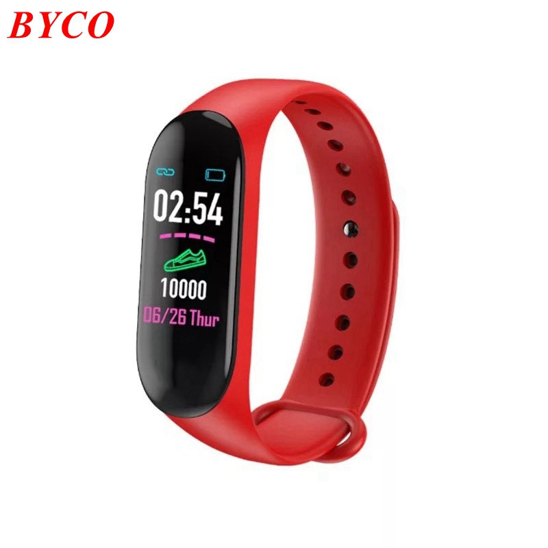 Factory Custom Logo Smart Horloge M3 Bluetooth Hartslag Stappenteller Smart Band M3 M4