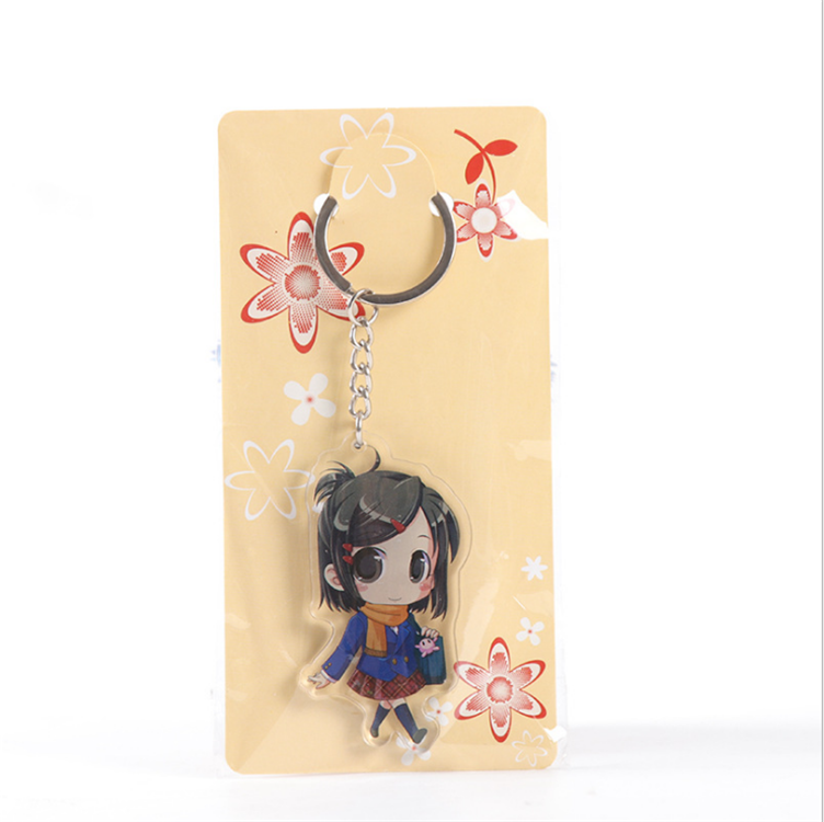 Wholesale Factory Made Custom Design Cute Design Mini Acrylic keychain