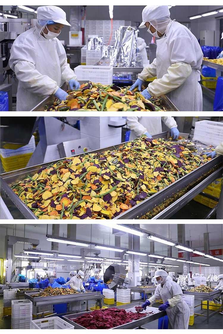 Natuurlijke Zoete Aardappelen Chips Klaar Om Te Eten Chinese Gezonde Snacks