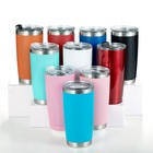 Stainless Steel Customized Color 20oz/30oz 304 Stainless Steel Double Wall Vacuum Insulated Tumbler With Straw And Lid
