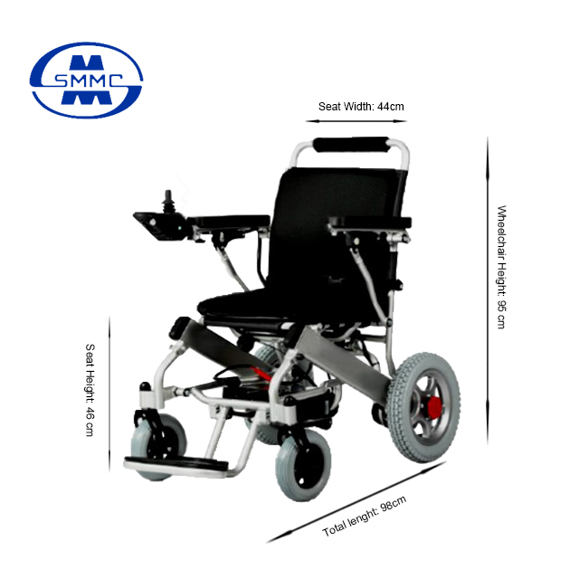 Electric Folding Aluminum wheelchair for elderly and Disabled people