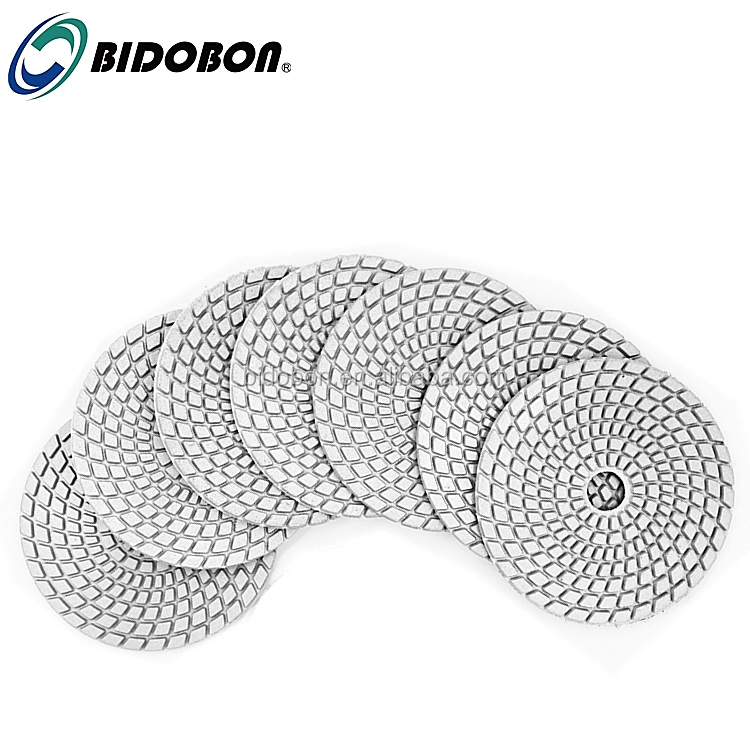 4 inch 100mm Spiral Shape Diamond Wet Marble Polishing Pads for Angle Grinder