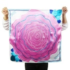 Custom Digital Flower Print on Cheap Poly Satin Scarf