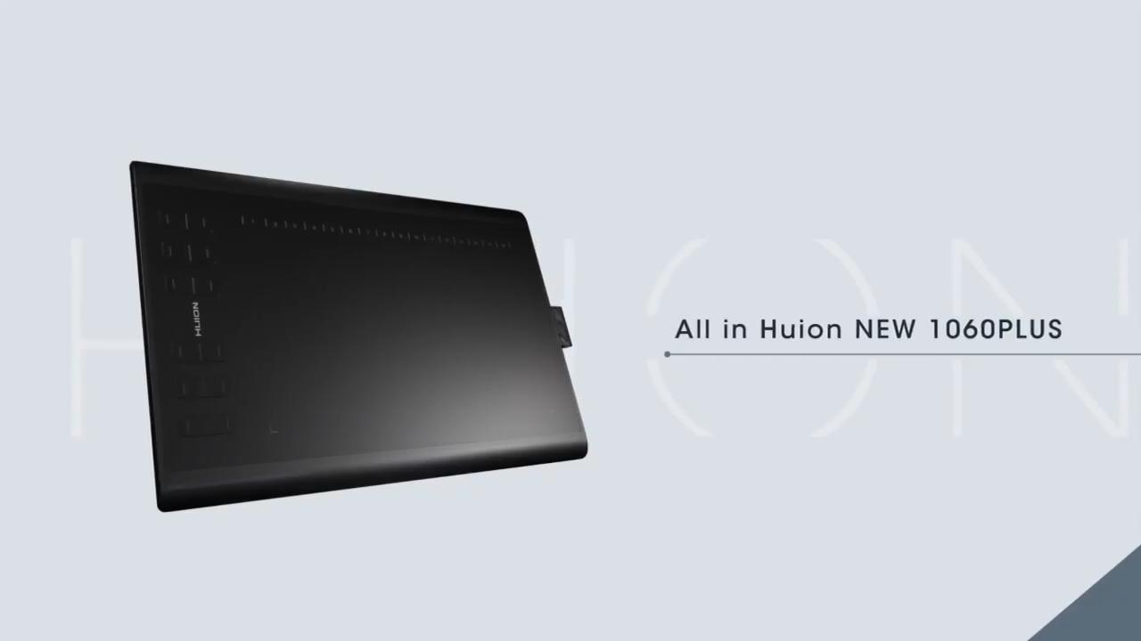 Huion inspiroy H1060P デジタル描画グラフィックタブレットとスタイラスプロ usb タブレット手書きタブレット