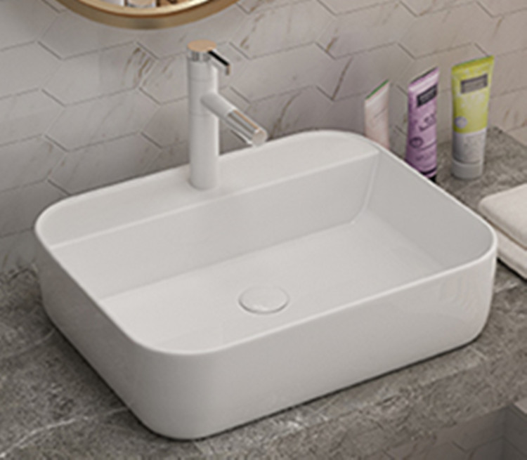 Factory price vanity counter tops ceramic water basin for bathroom