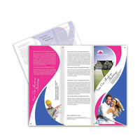 Wholesale Company free design flyer printing brochures advertising Newsletters leaflet