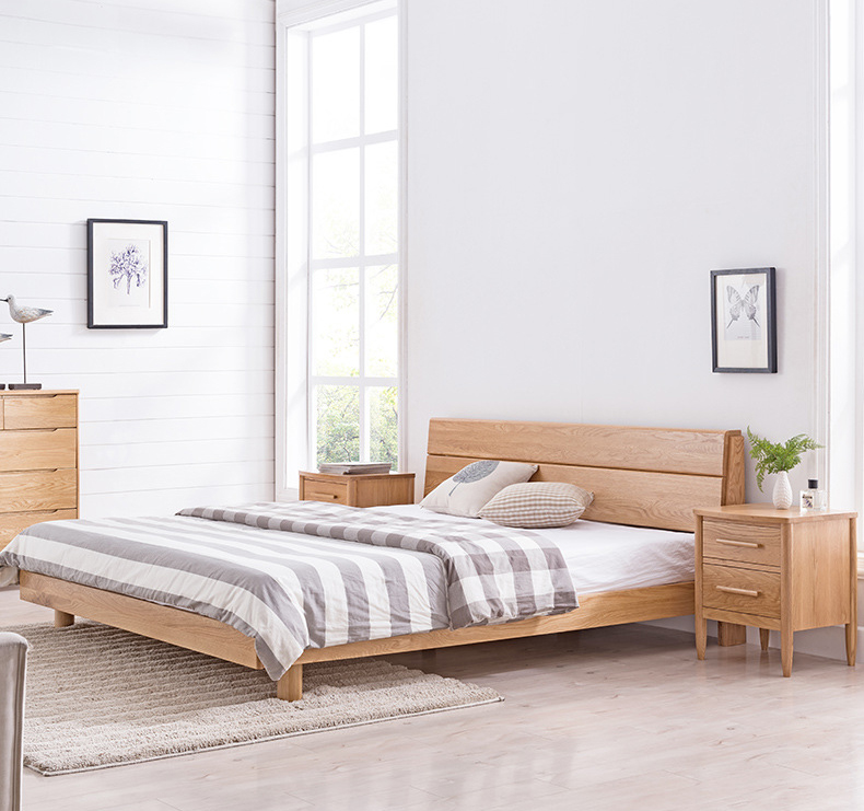 product-Morden Natural Wooden Solid Single Bed For Bedroom Furniture Frame Designs-BoomDear Wood-img