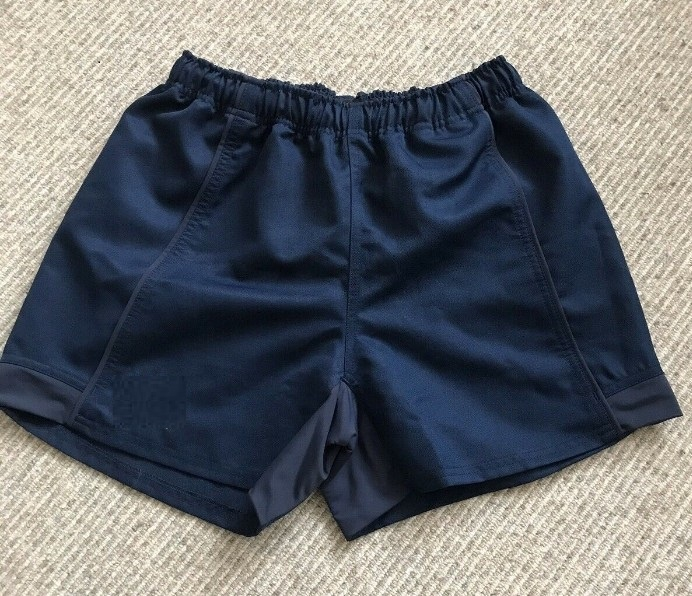 100% cotton all black custom rugby shorts for men