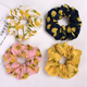 Summer days perfect hair accessories girls custom pineapples printed hair tie hair scrunchies