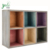 Decorative 6-Compartment Rainbow Wood Freestanding or Wall Mounted Shadow Display Box Display Shelf Shelving Unit