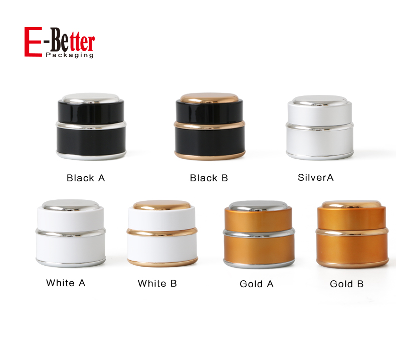 eco friendly 15g 30g 50g plastic cosmetic jar with screw cap