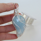 Heart Stone Pendant Wire Wrap For Necklace Jewelry Making