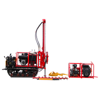 Rock borehole drill rig drilling machine