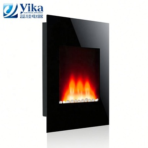 on wall fireplace tempered glass wall mounted electric firebox