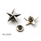 18mm silver color star metal rivet for clothing