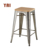 stackable durable bistro steel vintage high quality steel used commercial furniture metal industrial bar stool