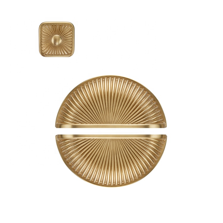 YONFIA 卸売格安家具引き出しローズゴールドキャビネットハンドル家具シェル形のハンドル