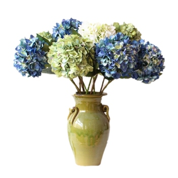 Top quality French style large hydrangea flower Wedding artificial flowers single hydrangea