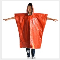 Camping Aluminum Insulation Thermal Foil with Logo Pe Orange Rescue Emergency Reflective Poncho