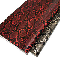 2019 fashion embossed snake skin leather fabric material prices for making shoes/bags