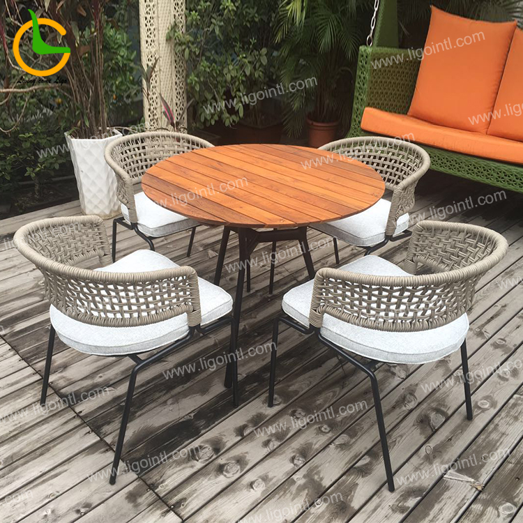 Italian style aluminum round wicker outdoor chair