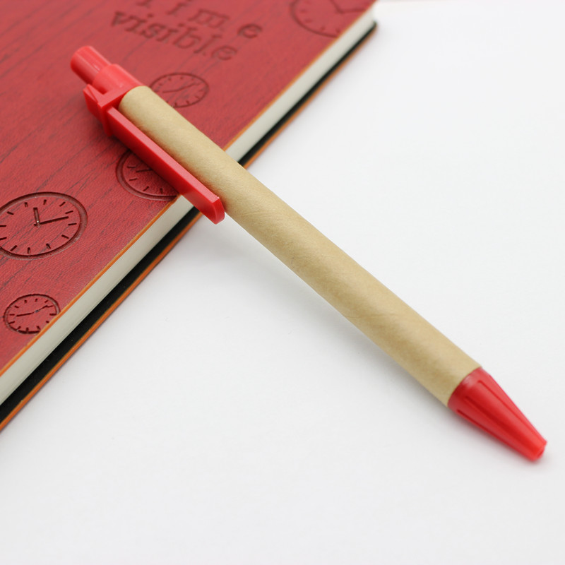 Wholesale  ECO Friendly Custom Ball Recycled Paper Promotion Ballpoint Pen With Logo