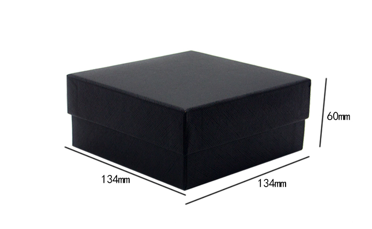 product-Customized necklace ring eyelash packaging box black paper jewelry gift box with heaven and -1