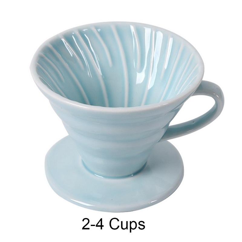 Керамическая кофейная капельница с двигателем V60, стильная кофейная капельная чашка с фильтром, Перманентная наполняемая кофеварка с отдел...(Китай)