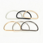 "Wholesale Modern Design Customized 2""/45mm Rose Gold Black Handbags Metal D Ring Buckle"