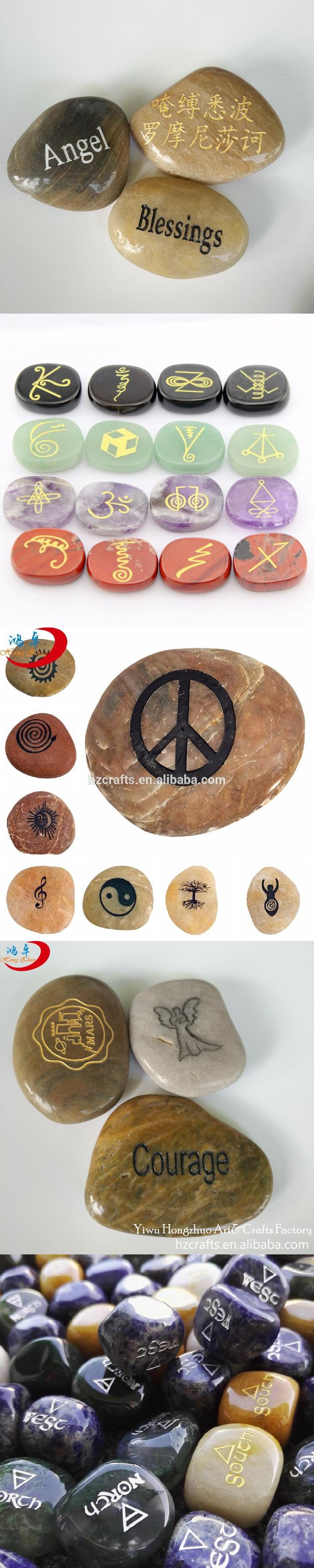 Custom engraved word pebbles stone ,inspirational engraved stone