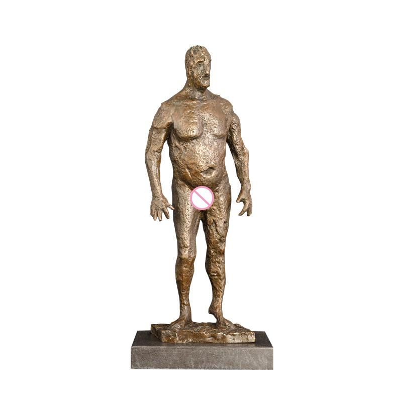 ArtsHom DS-503 Large Male Hunters Statue Bronze Antique Artwork Man Sculpture Figurine Collectibles Business Gift