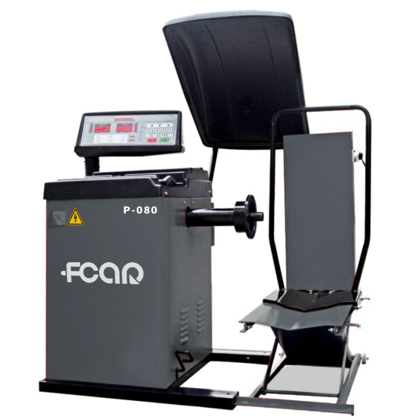 FCAR P-080 wheel balancer wheel alignment machine for truck, bus, car and motorcycle wheels with breaking pedal