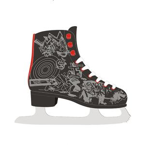 stainless steel ice skates hockey figure skating shoes