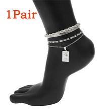 Богемный Шарм, железный браслет на ногу со змеиным узором для женщин и мужчин, регулируемые лодыжки в стиле панк, аксессуары для обуви, санда...(Китай)