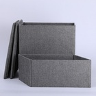 Wegifts pets storage two layers linen material foldable luxury pet stair for sofa and bed