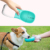 Manufacturer wholesale blue pink white portable dog water bottle for outdoor use 350ml 550ml