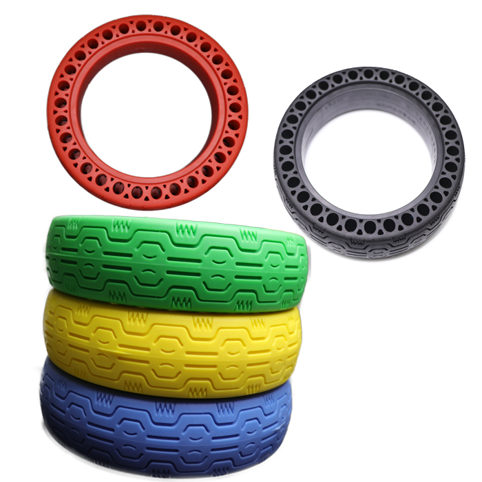 Customized Colorful Solid Tyre Electric Scooter Spare Parts Solid Tire for Xiaomi M365/ Pro Scooter Wheel