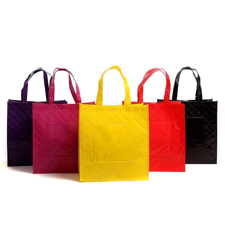 Chine marque haute qualité pp sacs à provisions non tissés stratifiés de luxe