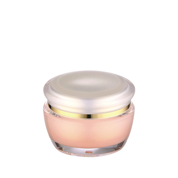 Hjgh end 30g 50g pink cosmetic acrylic cream jar with luxury lid