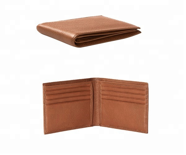 Promotion brown travel short man genuine real leather <strong>wallet</strong>