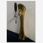 Gold color beer tap keg dispenser