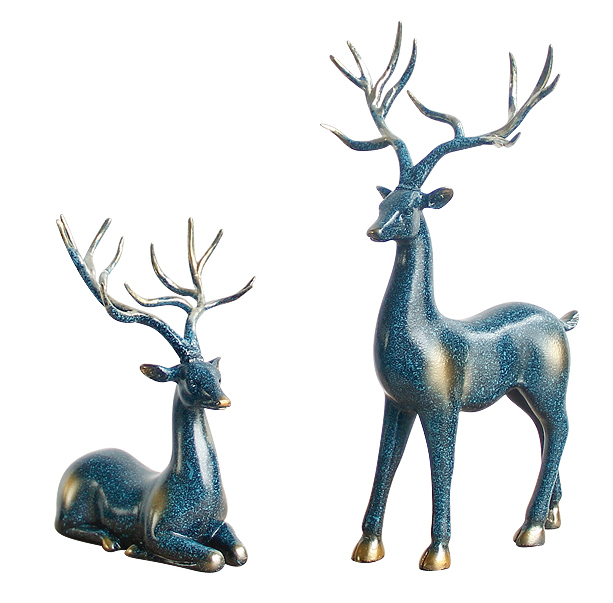 Home decor deer sculpture resin reindeer statue A0732